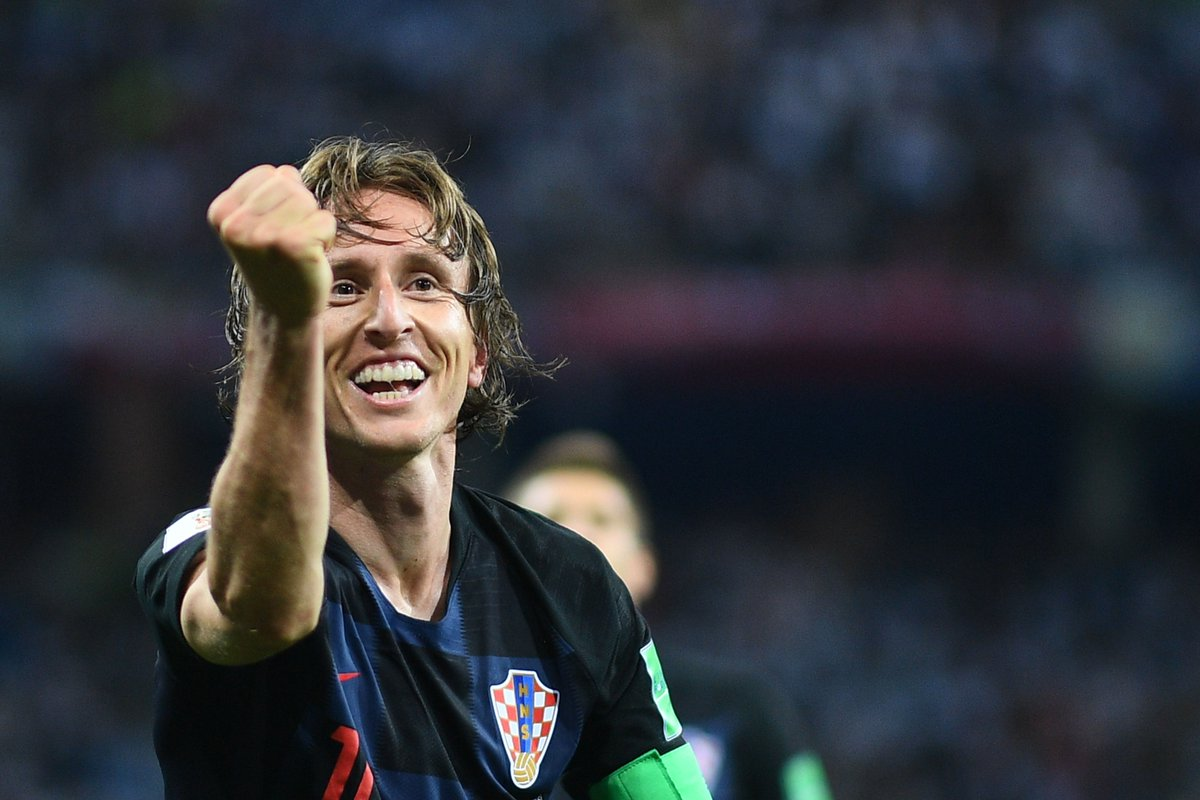 Luka Modrić's #WorldCup game by numbers vs. #ARG:   100% take-ons completed (2/2) 100% aerial duels won (3/3) 100% tackles won (2/2) 62 touches 42 passes 3 interceptions 2 chances created 2 shots 1 goal  World class.