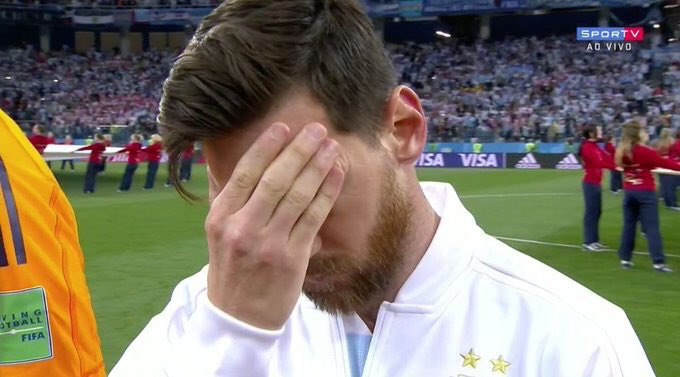 When you realize you cant be as good as Cristiano Ronaldo. #ARGCRO