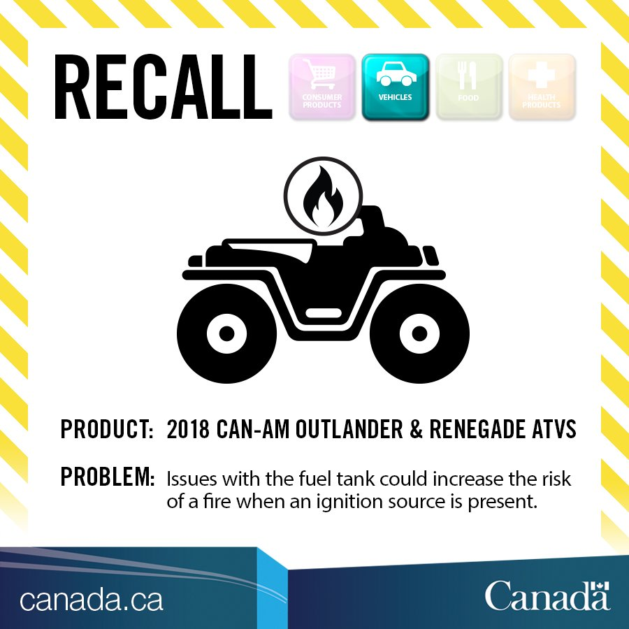 What Can Cause Excessive Pressure To Build In The Gas Tank >> Transport Canada On Twitter Recall Can Am Outlander Renegade