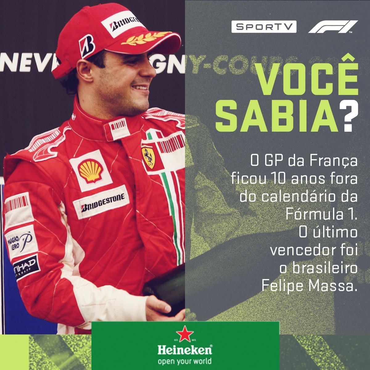 O circuito voltou ao calendário da F1 esse ano. Quem será que vence após 10 anos?  Acompanhe o GP da França neste domingo (24/06), às 11h10, no SporTV2! #F1noSporTV