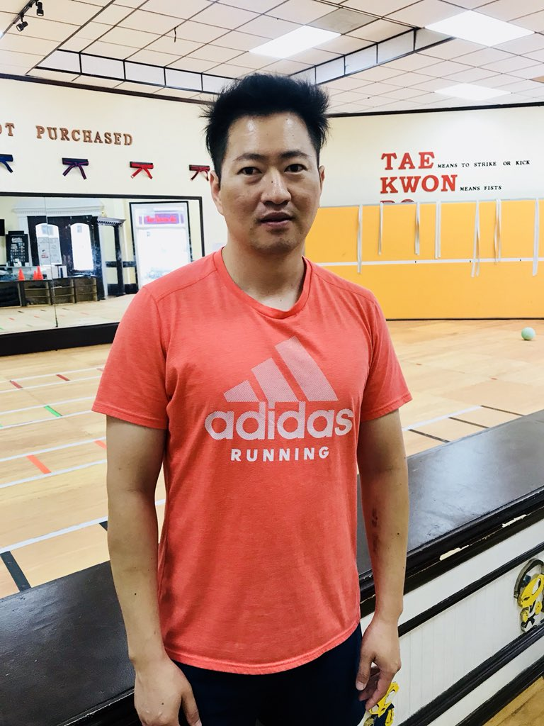 Kudos to Master J! He spotted a man having a medical emergency outside his #Durham taekwondo business. He and his students jumped in to bring the man inside, provided first aid, and called 911. Master J told me by the time EMS arrived, the man's condition was improving. #WRAL <br>http://pic.twitter.com/Jzpe0zYbmM