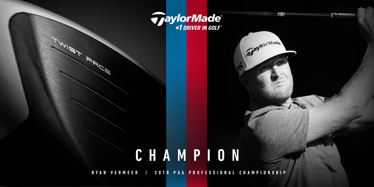 Champion — Ryan Vermeer | 2018 #PGAProChamp | Seaside, CA. #TwistFace #M3driver #1DriverinGolf