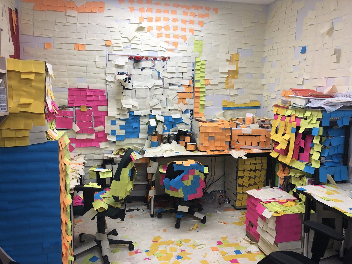 For those of you Wilson teachers thinking of applying out, you may want to reconsider!! #seeyouMrBecking #stickynotesatwork