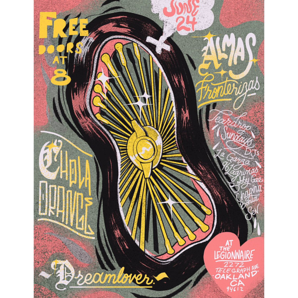 Sunday night @AFronterizas is at Legionnaire Oakland with Teardrop Sunday DJ's in between sets from @CholaOrange &amp; Dream Lover. 21+ Free!<br>http://pic.twitter.com/xx1nsBHYDV