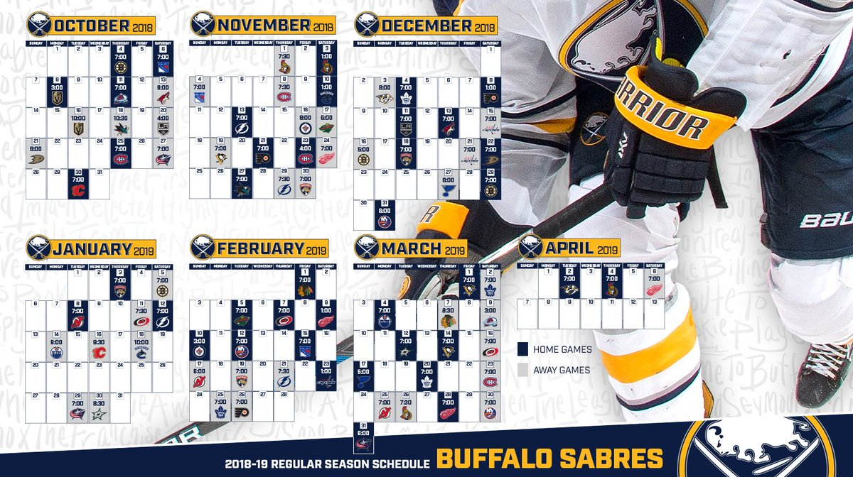 graphic about Sabres Schedule Printable referred to as Buffalo Sabres upon Twitter: \