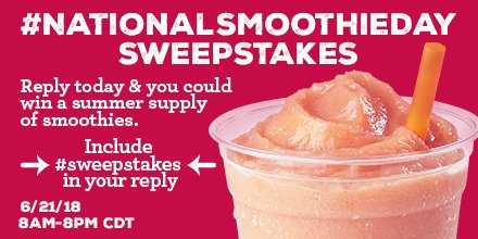 Luke-out summer here we come! #NationalSmoothieDay #sweepstakes  https://t.co/xsHFgidV30