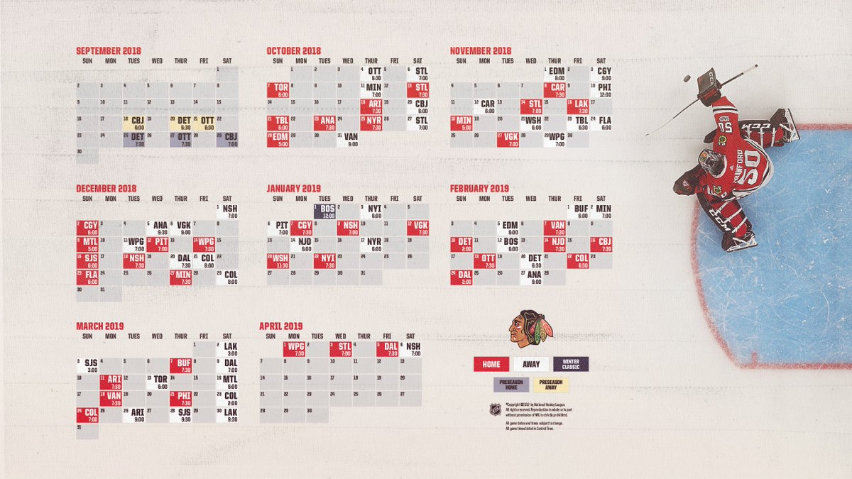 graphic about Chicago Blackhawks Printable Schedule identified as Chicago Blackhawks upon Twitter: \