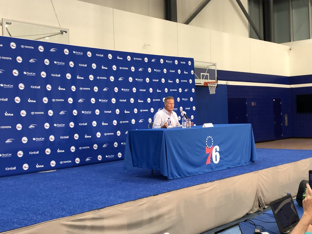 Brett Brown describing decision-making involving trade. Said what always rules the day is what is best for organization, how do you win a championship? Thinks future pick could be link to title given its value, and that Zhaire Smith was 1B on draft board.