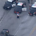 Image for the Tweet beginning: #PURSUIT: Police take 2 suspects