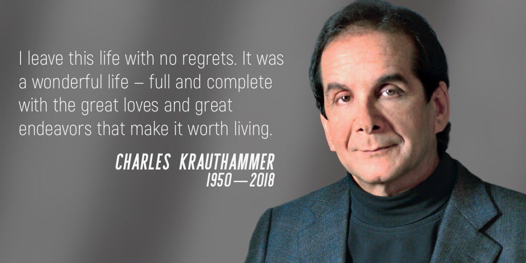 "Doug Ducey on Twitter: ""RIP Charles Krauthammer. We will miss your wisdom,  knowledge and thoughtful voice. Keeping the Krauthammer family in my  prayers during this time. @krauthammer https://t.co/IfReNzjpe9…  https://t.co/99I8fy4nq9"""