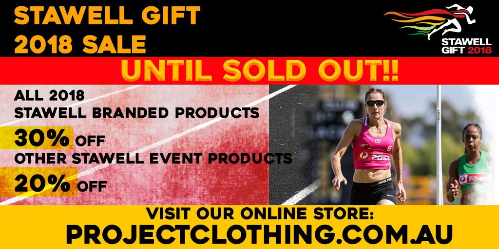 Stawellgift stawellgift twitter 30 off all 2018 dated stawell gift merchandise 20 of all other stawell gift merchandise hurry only while stocks last shop now httpbit2i9owdl negle Choice Image