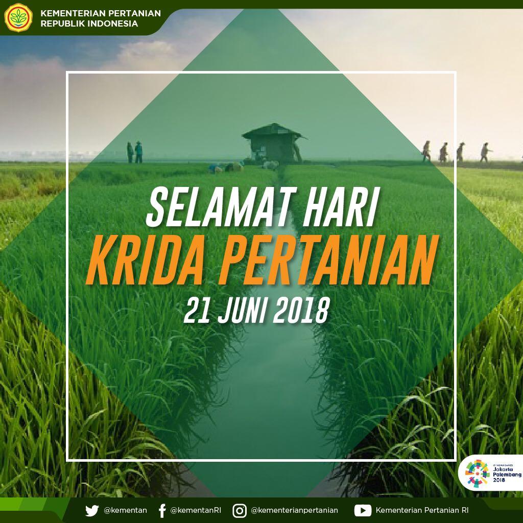 Kementerian Pertanian Ri On Twitter Hari Krida Pertanian Pada