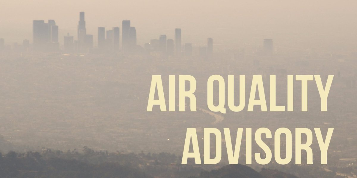 #AirQualityAdvisory: Air Quality is Unhealthy in Santa Clarita Valley and East San Gabriel Valley.  Avoid outdoor activities if you have asthma, heart disease, and other chronic respiratory diseases.  https:// bit.ly/2lsHsd4  &nbsp;   for more info.<br>http://pic.twitter.com/Nd0cl82FNt
