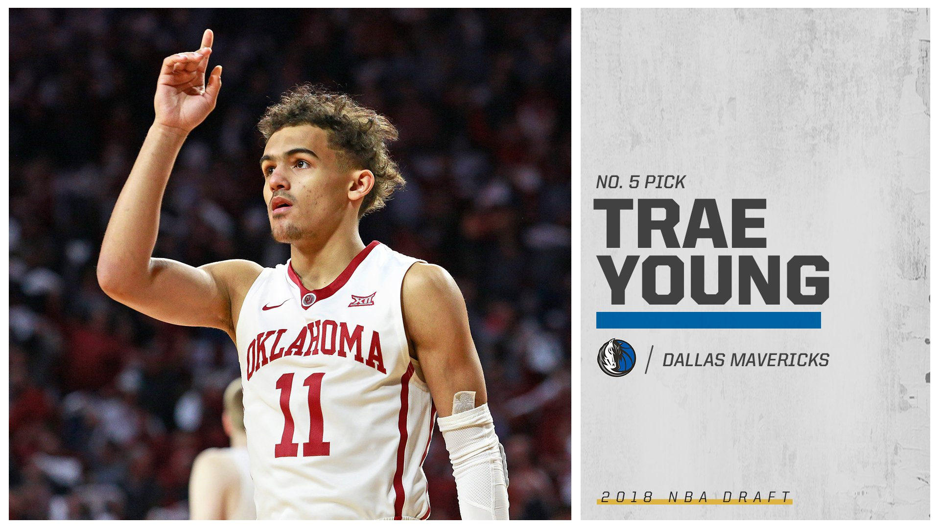 The Hawks have their man.  Trae Young is selected No. 5 overall and is reportedly headed to Atlanta. https://t.co/p4NUU7dzFs