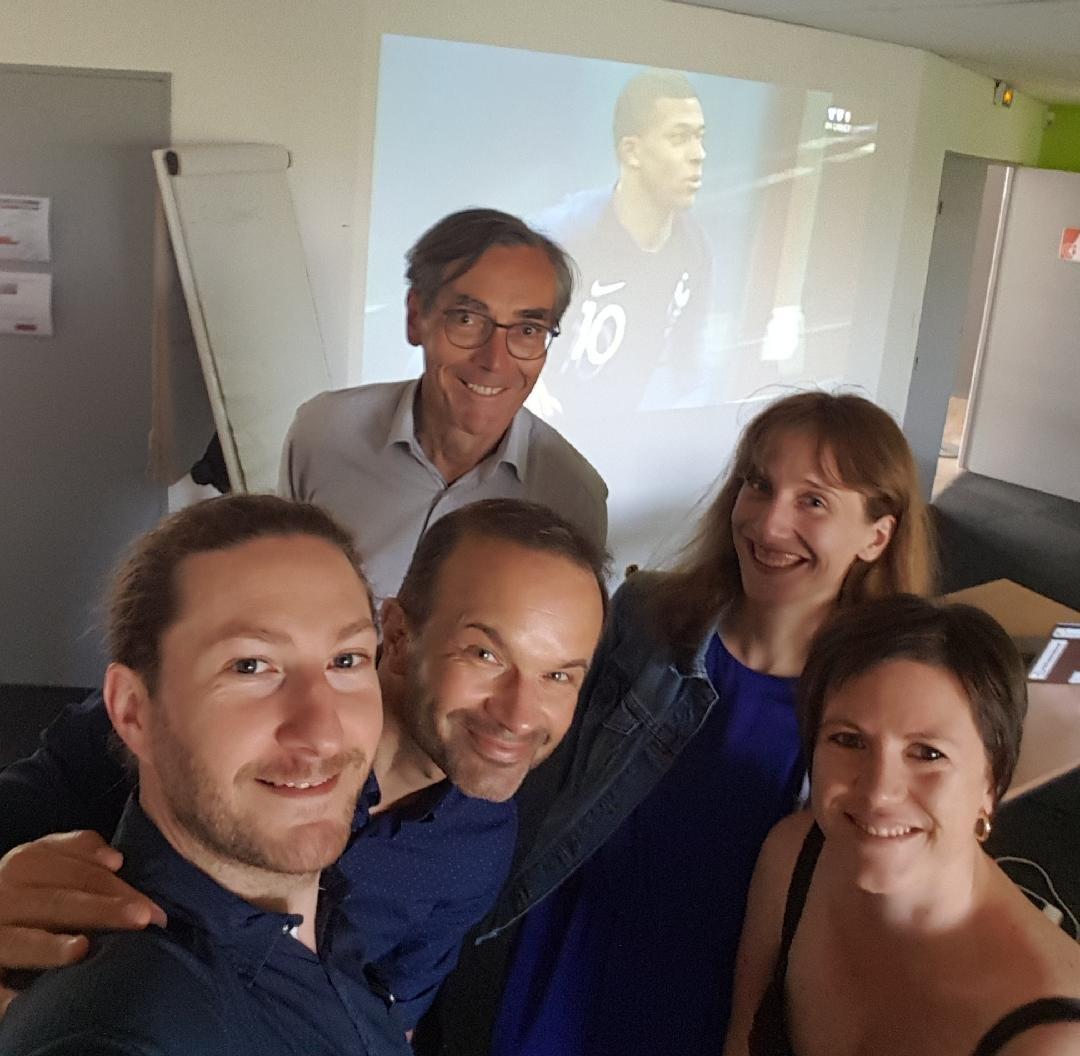#AfterCosel : après avoir soutenu les porteurs de projets au comité de sélection, la team #incubateur soutient l'équipe de France…