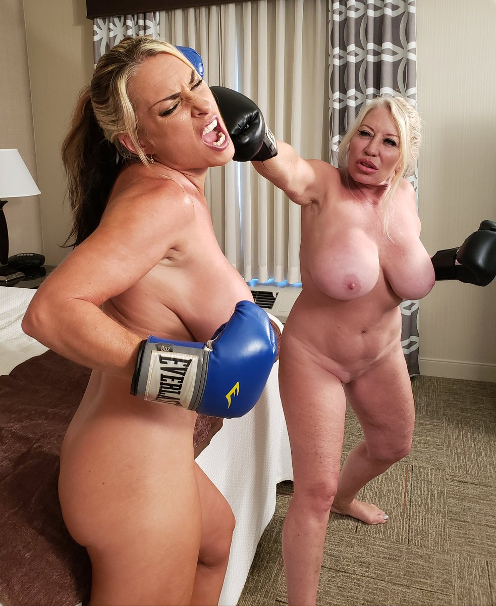 Women fighting naked