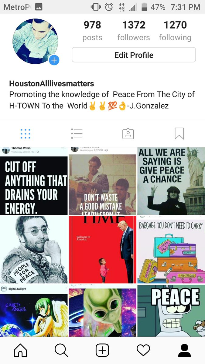 Follow my group and page Instagram and Facebook #Houstonalllivesmatters... Share message of peace and continue journey to Show peace to the World  #peace #alllivesmatters #sharepeace #FollowBack #follow4follow  #follo4folloback  #follo4follo<br>http://pic.twitter.com/tHbwDZm46a
