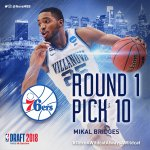 Happy are those who dream and are willing to pay the price - we are proud of @mikal_bridges !!