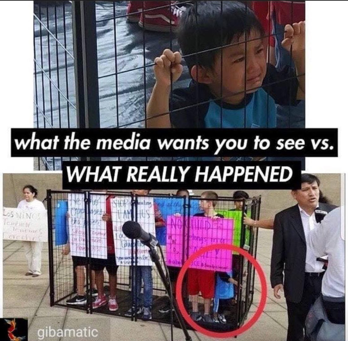 Regressive liberals keep posting misleading pics to wind up public against Trump. This posted by 'journalist' Jose Antonio.This child was never in ICE custody and not placed by gov in a cage. He was used by activist. They made him cry for a photo, kind of like Hamas. #MAGA