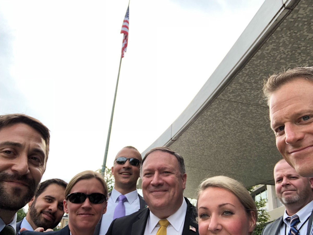 Thank you to the brave men and women of @StateDeptDSS who work 24/7 to protect @StateDept and the best diplomatic corps in the world. #swagger #NationalSelfieDay (P.S. Keep your day job, gang.)<br>http://pic.twitter.com/5TT6oqMH3I