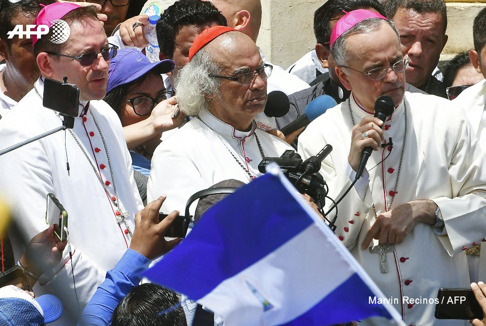 Prominent Nicaragua bishops enter the opposition bastion of Masaya in a dramatic show of solidarity with residents https://t.co/Dd1CYFPyu7