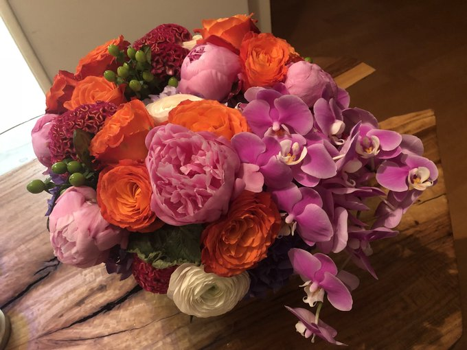 Came home to this beautiful bouquet! Thanks Jacque,  @AngelicaMcD and the @CBSDaytime family for all