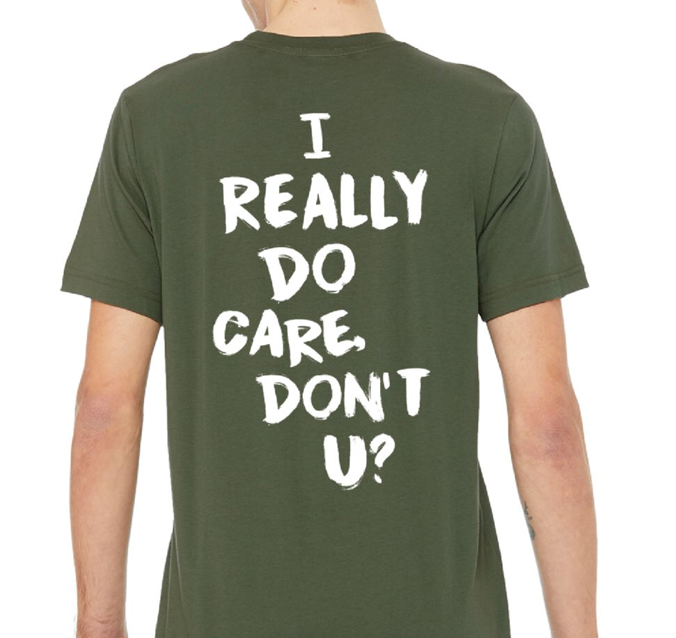 """The folks at @Upworthy and @good's Public Service Apparel Co. made an """"I really do care. Don't u?"""" shirt. All proceeds they make will be donated to @UNITEDWEDREAM. #IReallyDoCare psasupply.co/products/i-do-…"""