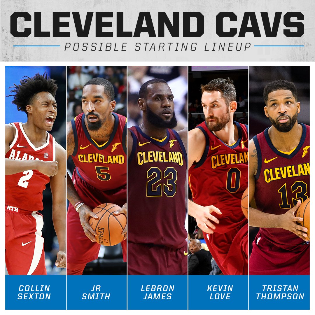 A look at the potential starting 5 of the Cavs next season. <br>http://pic.twitter.com/qitoCHeIT7