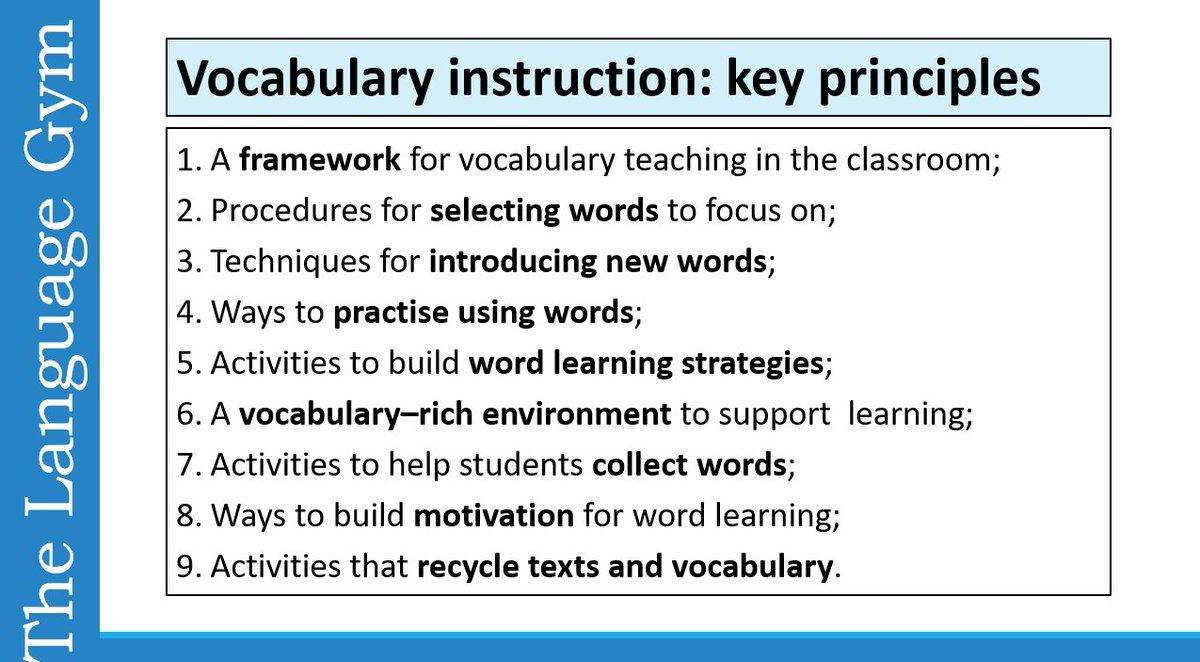 Dr Gianfranco Conti On Twitter Vocabulary Key Principles In