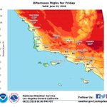 Image for the Tweet beginning: Hotter temperatures expected on Friday.