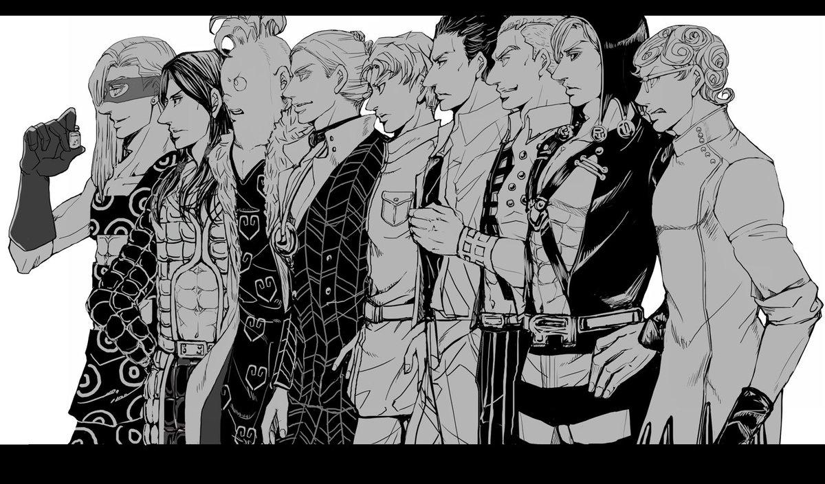 ジョジョ5部アニメ化おめでとう!!!暗殺チームはいいぞ!!!!   #jojo_anime #黄金の風