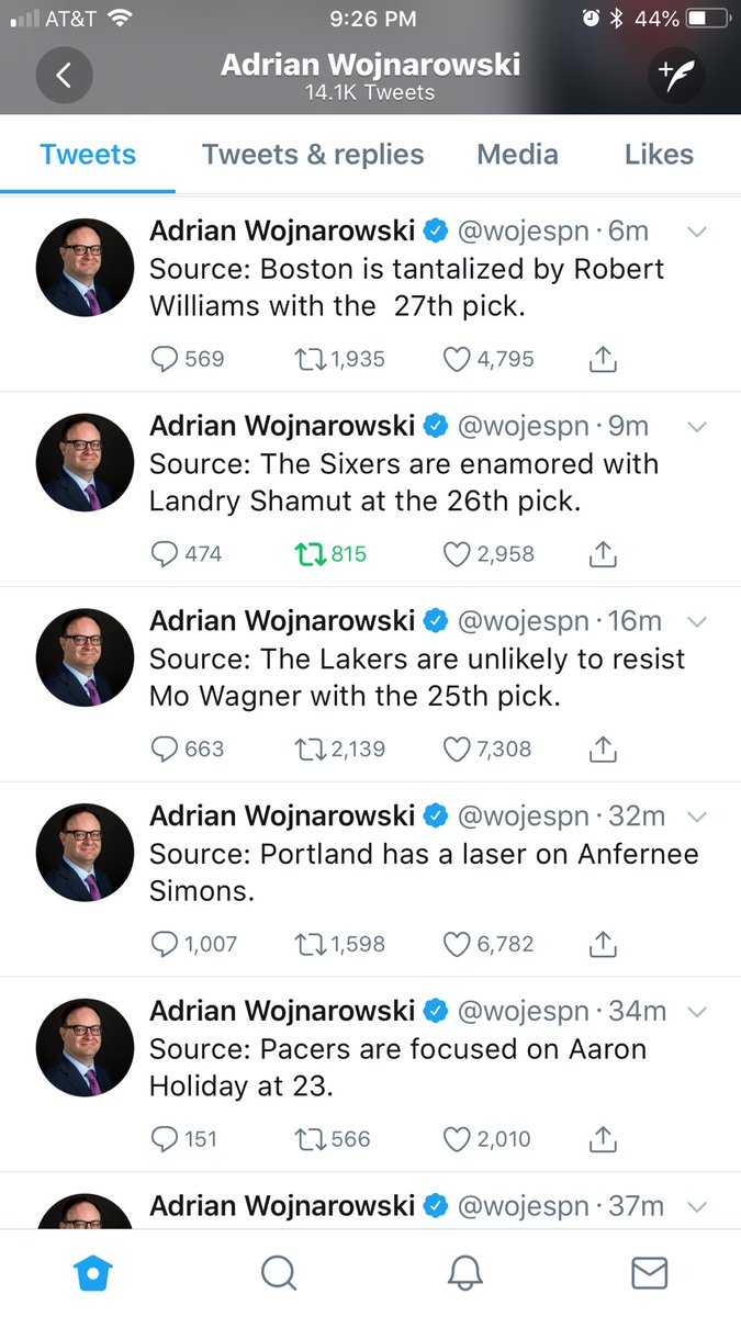 @World_Wide_Wob Woj made Shams quit tweeting....... #Fatality