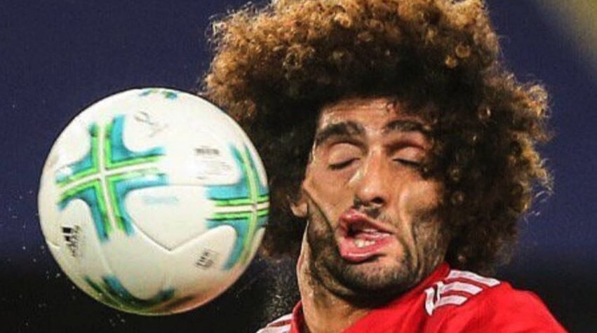Marouane Fellaini only has 8 days on his Manchester United contract.. #MUFC