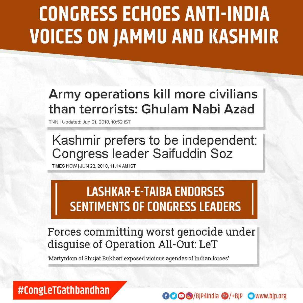 Congress leaders undermine India's sovereignty. #CongLeTGathbandhan