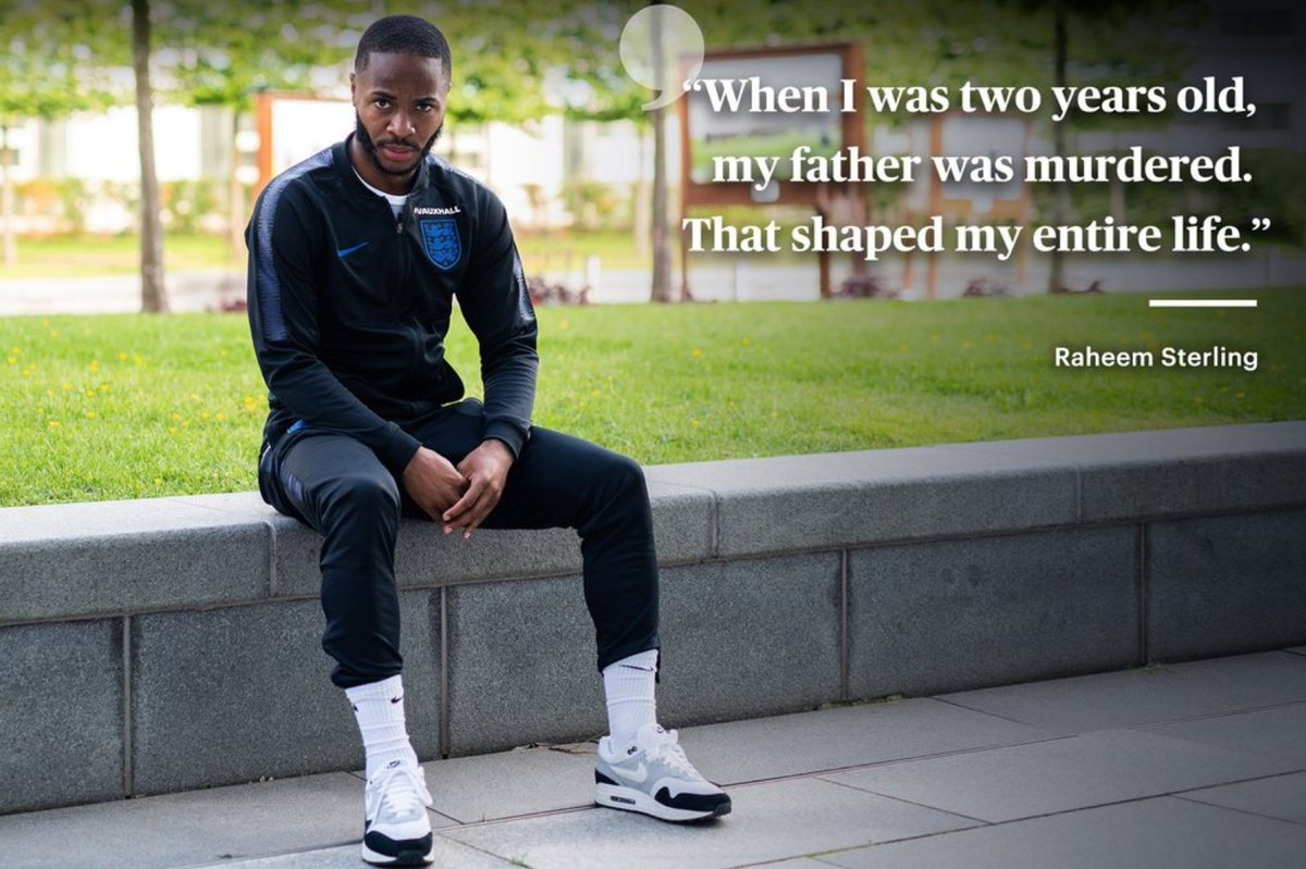 Sterling: If people want to write about my mum's bathroom in her house, all I have to tell you is that 15 years ago, we were cleaning toilets in Stonebridge and getting breakfast out of the vending machine. If anybody deserves to be happy, it's my mum. theplayerstribune.com/en-us/articles…