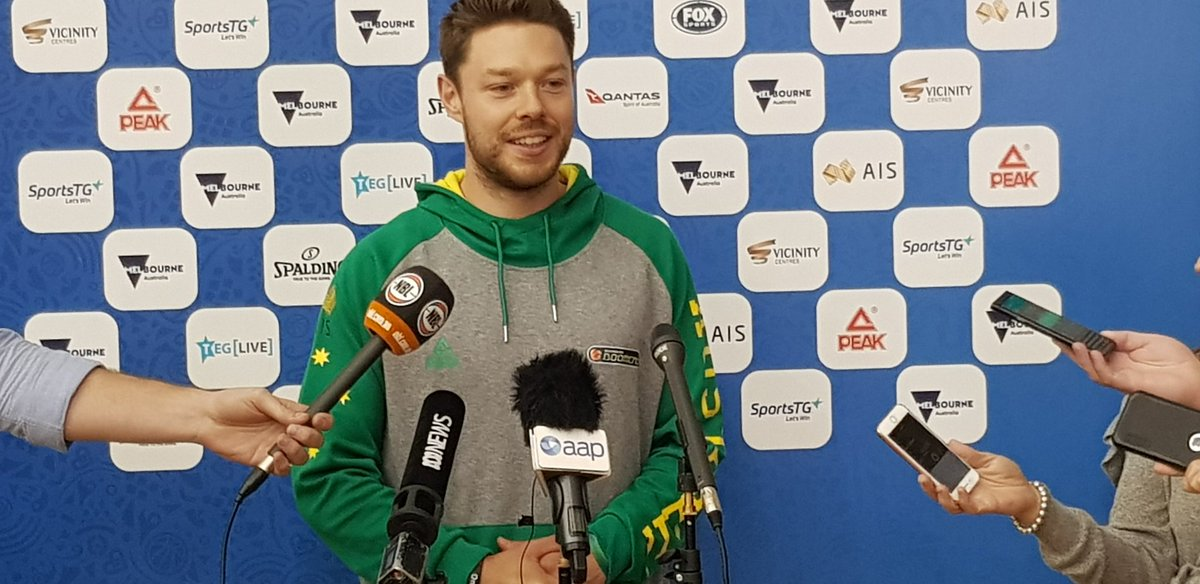 👀 Always nice to have @matthewdelly back with the Boomers! #FIBAWC #GoBoomers