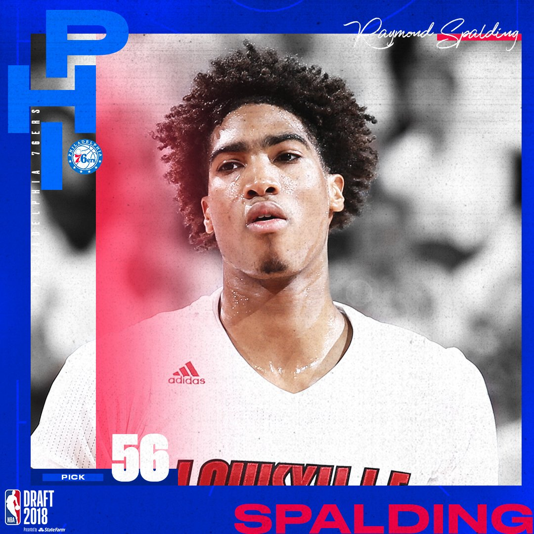 The @Sixers select Raymond Spalding with the 56th pick in the 2018 #NBADraft  Reports: The Sixers have traded Spalding's draft rights to Dallas.