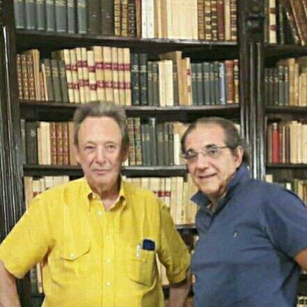 #Palermo 22 Giugno  #TomasidiLampedusa#TomasiLanza figlio di Giuseppe Tomasi #Principe e #PierfrancoBruni nella #Biblioteca del #Gattopardo  - Ukustom