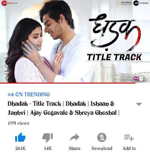 dhadak movie 4k video songs download