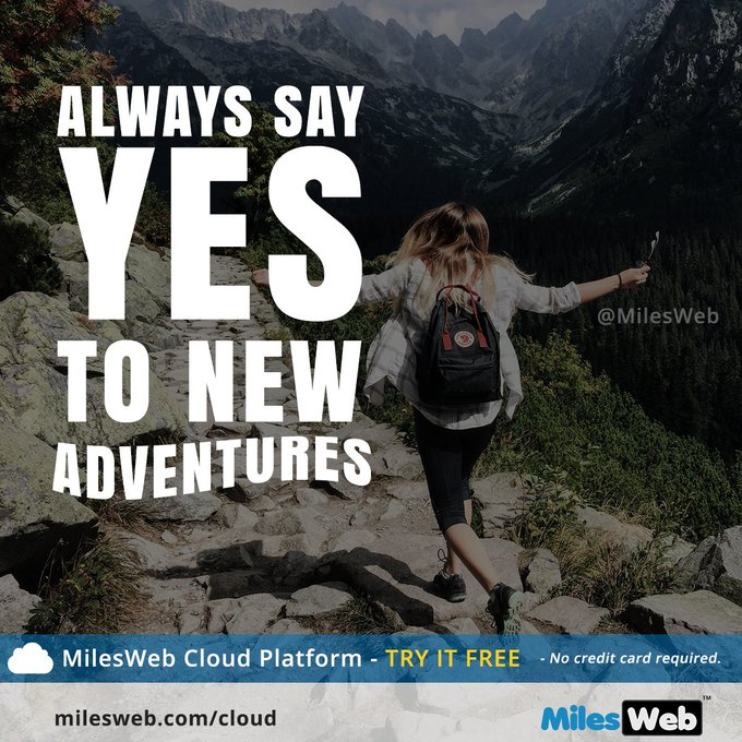 Always say yes to new adventures. #Quotes #FridayFeeling Photo