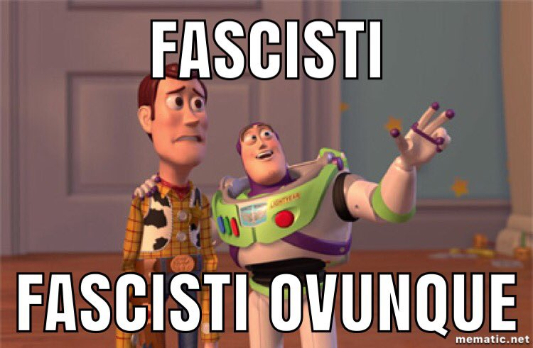 -Non la pensi come me?Fascista!-Non hai votato #pd?Fascista!-Chiedi #legalità?Fascista!-Rivendichi la #dignità del tuo paese?Fascista!-Hai votato #5stelle?Fascista!-Prendi i mezzi pubblici e sei stato derubato?Fascista!-Hai fatto una scorreggia?Fascista!  - Ukustom