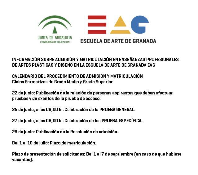 Eag على تويتر Calendario Pruebas Acceso Ciclos Formativos