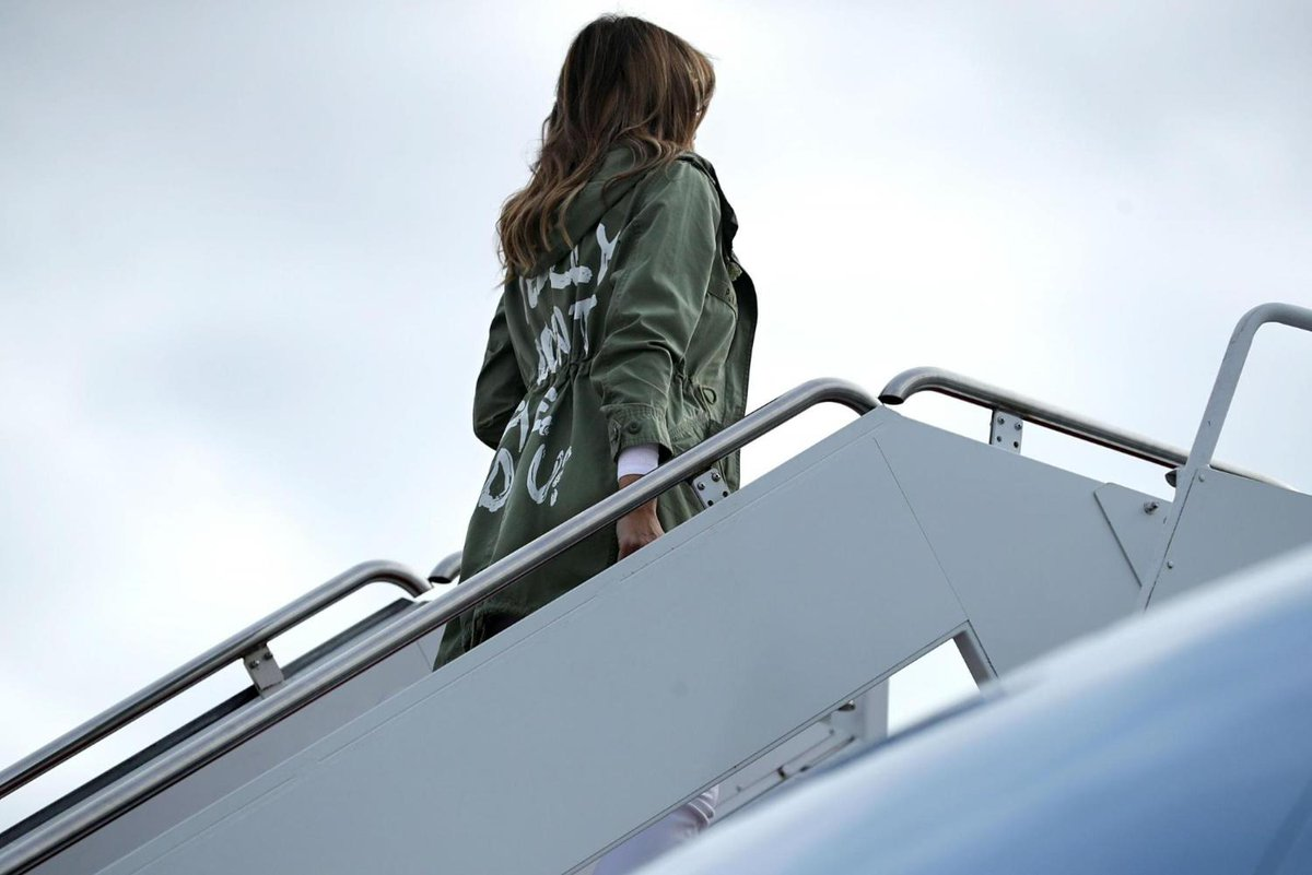 Melania Trump wears jacket with 'I really don't care' on back on trip to visit immigrant children https://t.co/0y6ZDeWeE3