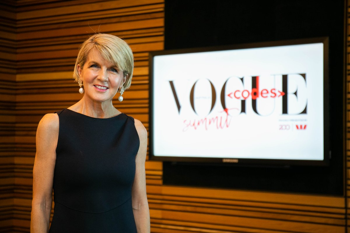 The Hon @JulieBishopMP, Minister for Foreign Affairs, on women's empowerment, role models and the future for Australian girls. #VogueCodes. au.vogue.com.au/pTM5hRS
