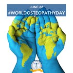 Image for the Tweet beginning: Celebrating osteopaths around the world