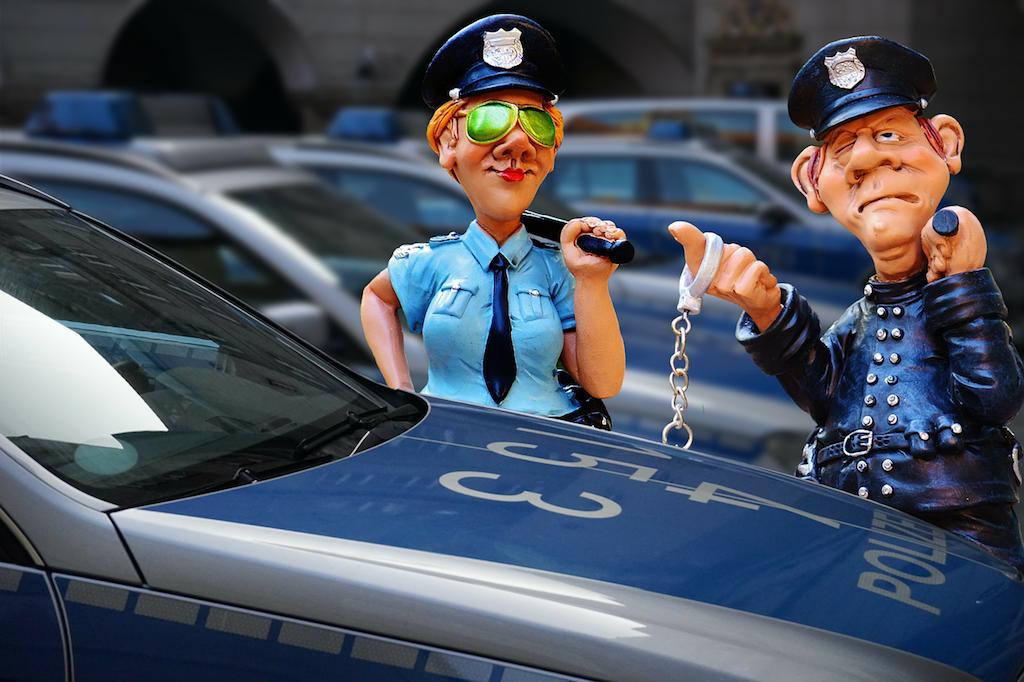Днем рождения, картинка с полицейским