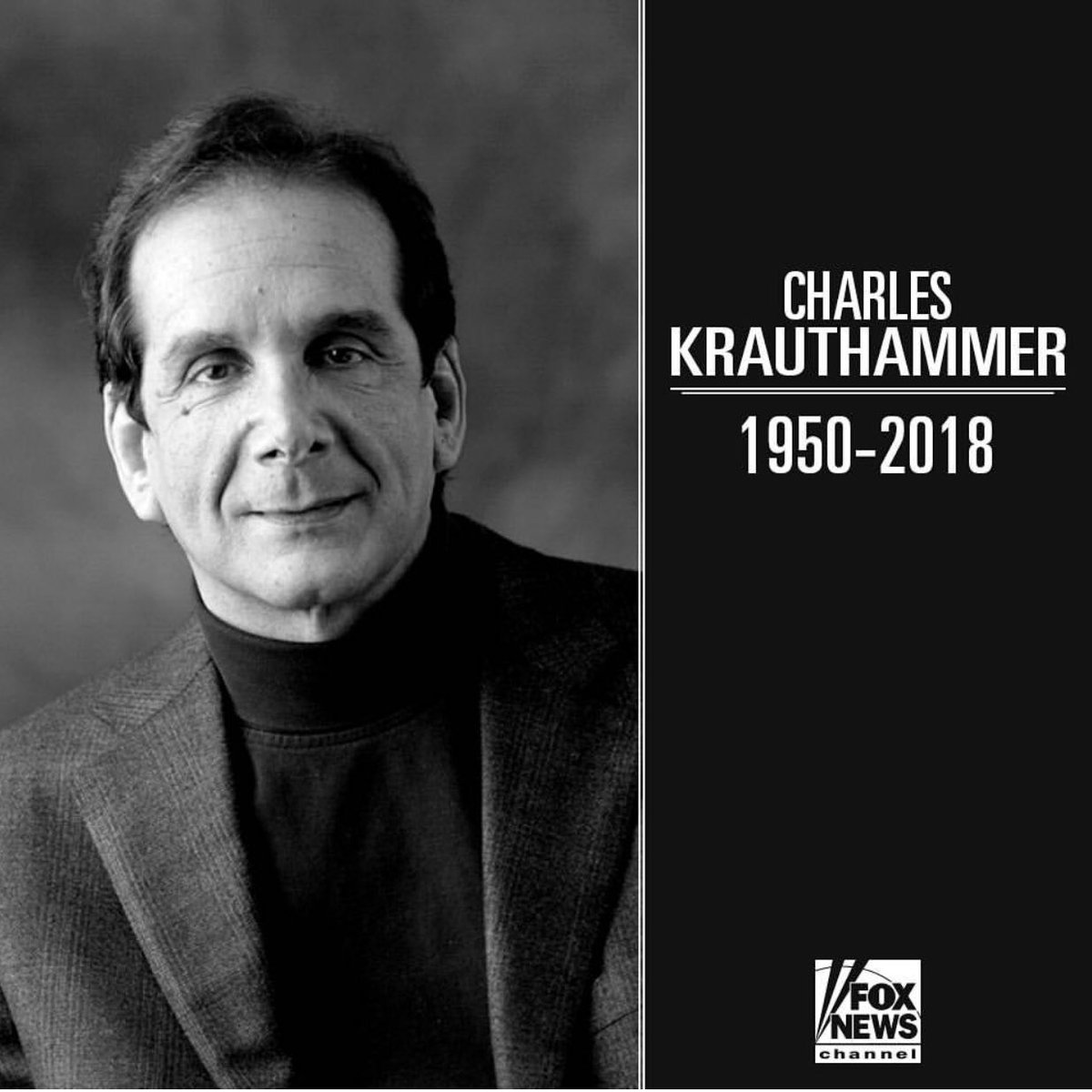 We all have heavy hearts tonight, as we morn for the Krauthammer Family. You all are in my thoughts and prayers. @foxandfriends @FoxNews