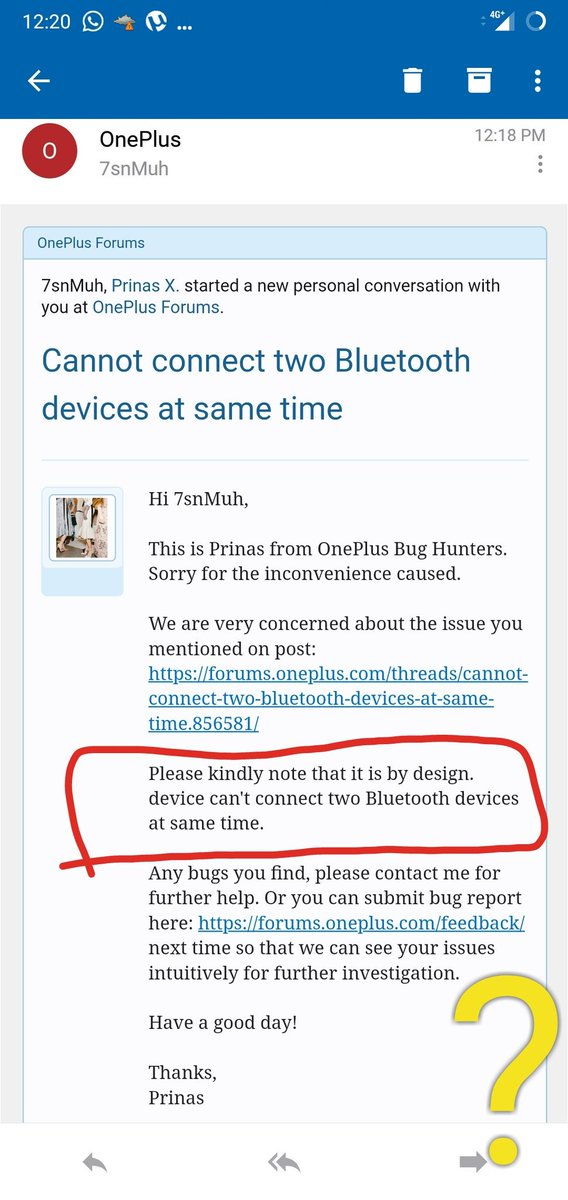 If you have #OnePlus6 you will be able to connect two Bluetooth devices at same time!!