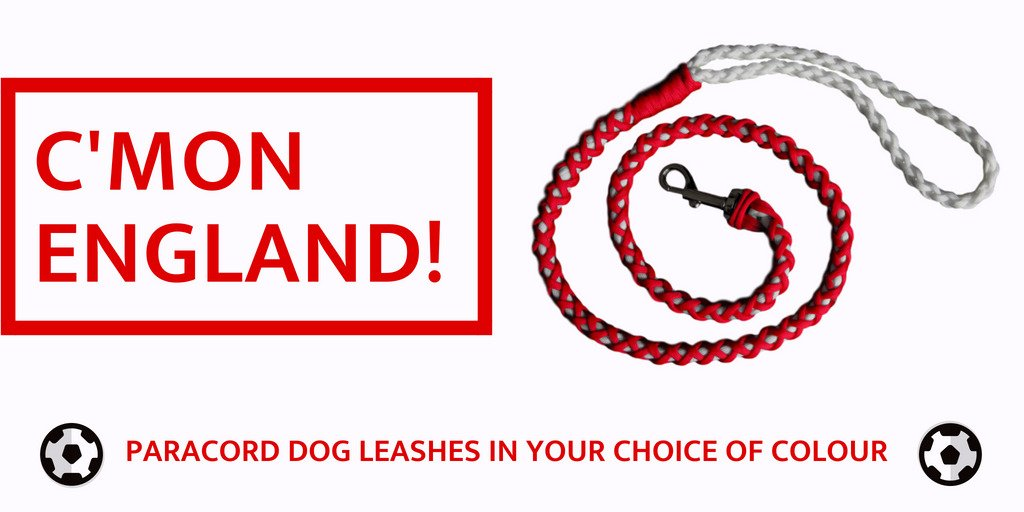 CMON ENGLAND! Show us your team colours - Pick your own paracord dog leash colour combo at fur-babies.pet/leashes ⚽ #WorldCup2018 #ENGLANDSQUAD #THREELIONS #DOGS #dogsoftwitter #dogwalking #FanClub