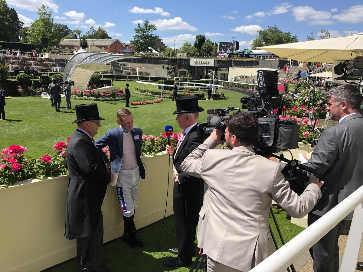 Interview with @SkySportsNews Royal Ascot day 4 #sandsofmali 🤞